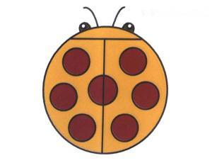 可爱的七星瓢虫简笔画图片教程