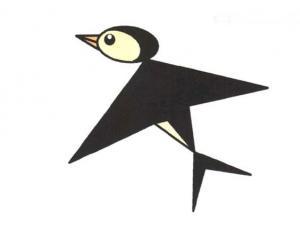 飞翔的燕子简笔画图片教程