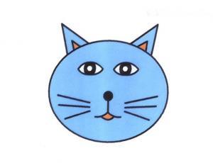 猫脸简笔画的画法图片教程