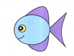 彩色胖头鱼简笔画的画法图片