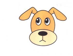 可爱狗头简笔画的画法图片