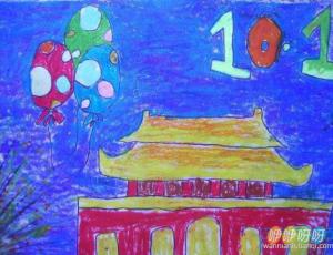 2019国庆70周年儿童画简笔画